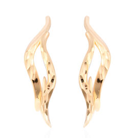LucyQ Flame Collection - Yellow Gold Overlay Sterling Silver Earrings (with Push Back)