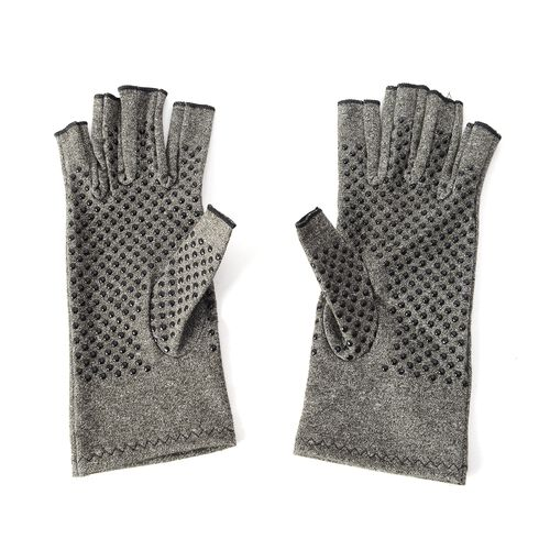 Compression Gloves with PVC Grip and Open Finger (Size S)