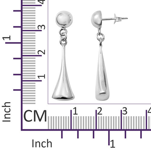 Sterling Silver Earrings (with Push Back), Silver wt 4.43 Gms.