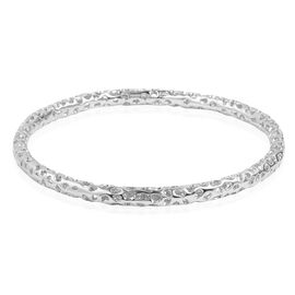 RACHEL GALLEY Rhodium Plated Sterling Silver Allegro Bangle (Size 8.5), Silver wt 19.38 Gms