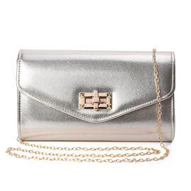 Clutch Bag with Shoulder Chain Strap (Size 23.5x13.5x6 Cm) -  Light Gold