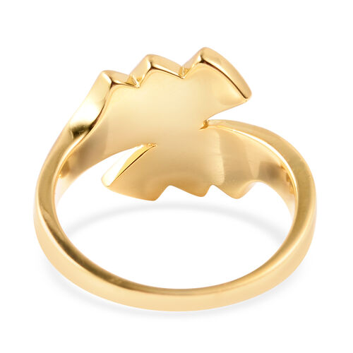 Sandblast Texture Collection - RACHEL GALLEY Yellow Gold Overlay Sterling Silver Bypass Ring