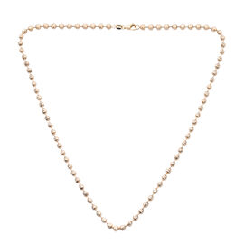 Surabaya Collection Diamond Cut Beaded Necklace in 9K Gold 18 Inch