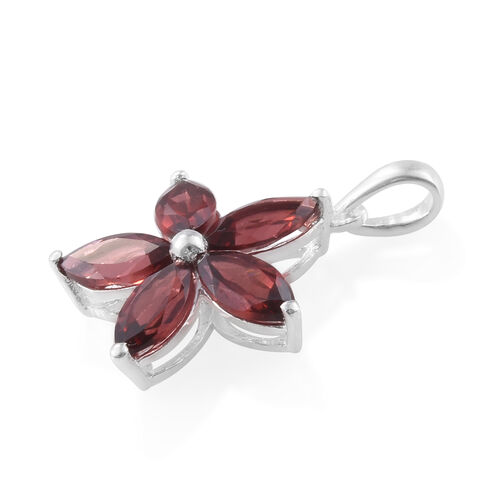 Mozambique Garnet (Mrq) Pendant in Sterling Silver 3.250 Ct.