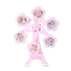 Rotating Ferris Wheel Musical Photo Frame (Size 45x35x8 Cm) - Pink