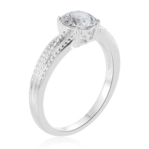 J Francis - Sterling Silver (Rnd) Solitaire Ring Made with SWAROVSKI ZIRCONIA.
