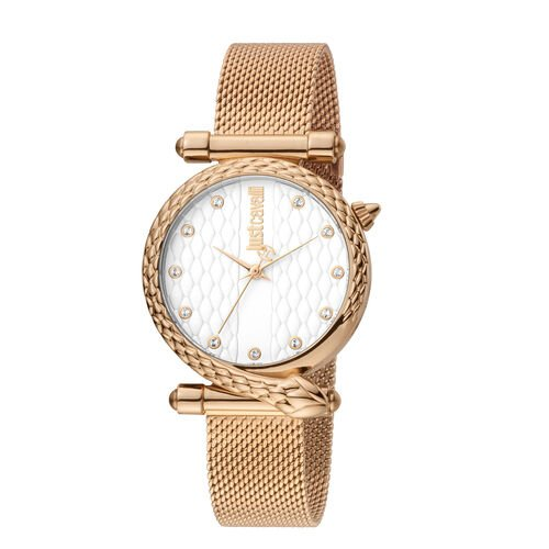 Just Cavalli Glam Chic Japanese Movement Ladies Watch in Rose Gold Tone