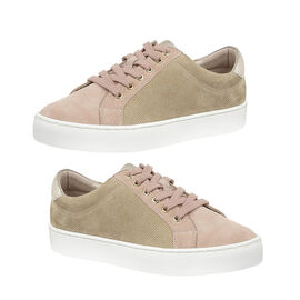 Lotus Stressless Leather Amsterdam Lace-Up Trainers in Natural Pink Colour