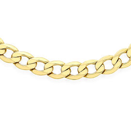 Mega Day Special Close Out Deal- 9K Y Gold Curb Necklace (Size 20), Gold wt 9.8 Gms.