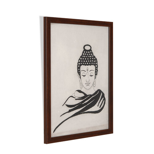 TJC Launch - SHUNGITE Handcrafted  Buddha Painting (Size 25x33 Cm)