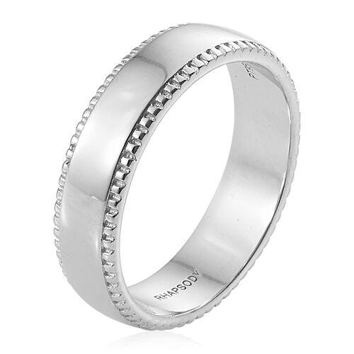 RHAPSODY Milgrain 4mm Comfort Fit Wedding Ring in 950 Platinum 7.51 gms