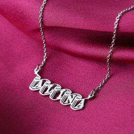 Personalised Name Necklace in Silver, Font - Bandoneon
