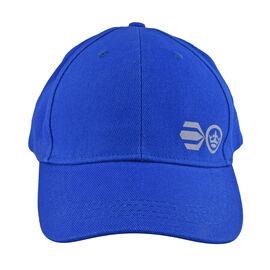 Crosshatch Blue Summer Cap