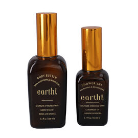 Shungite Enriched Earthi Rose and Lychee Body Butter with complementary Jasmine and Mogra Shower gel