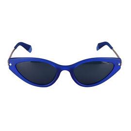Polaroid Blue Cat-Eye Sunglasses with Grey Lenses