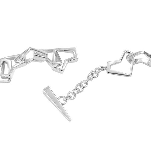 RACHEL GALLEY Sterling Silver Love and Peace Necklace (Size 18), Silver wt 64.50 Gms.