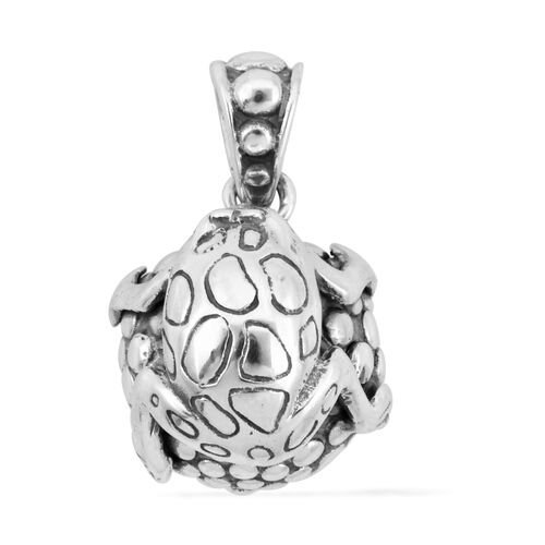 Bali Legacy Collection Sterling Silver Ball Frog Pendant, Silvere wt 7.46 Gms.