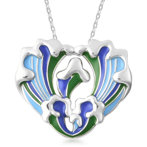 Isabella Liu Embrace Scar Collection Rhodium Overlay Sterling Silver Enamelled Heart Style Pendant W