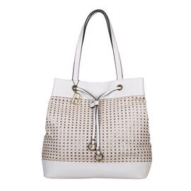 Bulaggi Collection Buffy Shopper Bag in Bone Colour