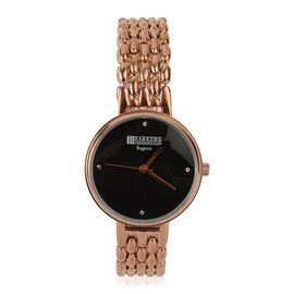 Barkers of Kensington - Regatta Watch With SWAROVSKI Crystal  - Black