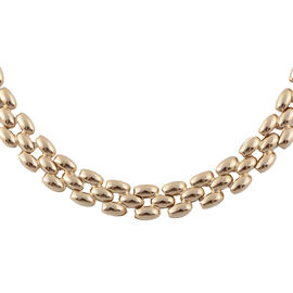 JCK Vegas Designer Inspired  - 9K Yellow Gold Panther Link Necklace (Size 17 with 3 Inch Extender),