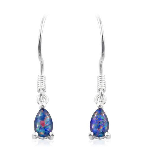 Super Auction - Australian Boulder Opal (Pear) Hook Earrings in Sterling Silver