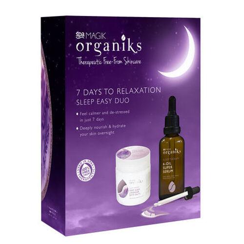 MAGIK ORGANIKS- Spa Magik Organiks 7 Days to Relaxation, Lavender Bath Salts 550g and 6 point Sleep Therapy Oil 50ml