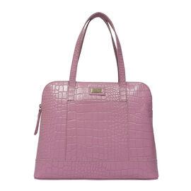 EVA Genuine Leather Croc Tote Handbag