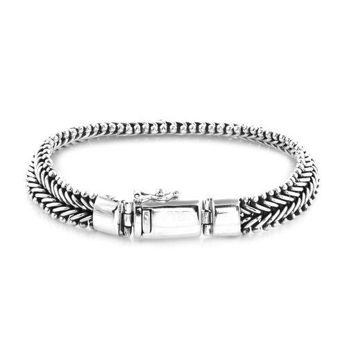 Royal Bali Collection - Sterling Silver Bracelet (Size 7.5), Silver wt 35.60 Gms