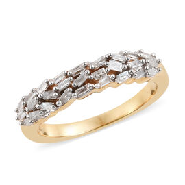 Diamond (Bgt) Band Ring in 14K Gold Overlay Sterling Silver 0.250 Ct.
