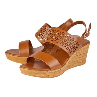 Lotus Tan Zarina Wedge Sandals (Size 3)