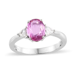 RHAPSODY 950 Platinum AAAA Pink Sapphire (Ovl), Diamond (VS/E-F) Ring 1.750 Ct.