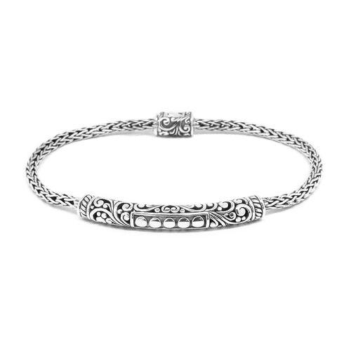 Designer Inspired Handcrafted Sterling Silver Bracelet (Size 7.5), Silver wt 12.00 Gms.