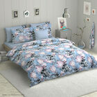 6 Piece Set - Floral Pattern Comforter, Fitted Sheet, 2 Pillow Case and 2 Envelope Pillow Case (Size