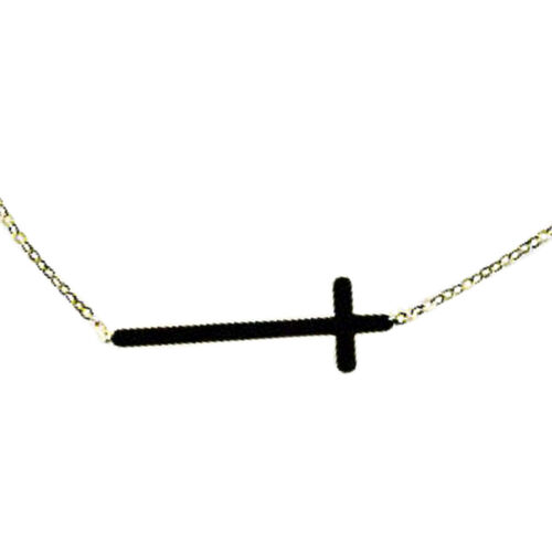 Cross Necklace in 9K Gold 17.5 Inch