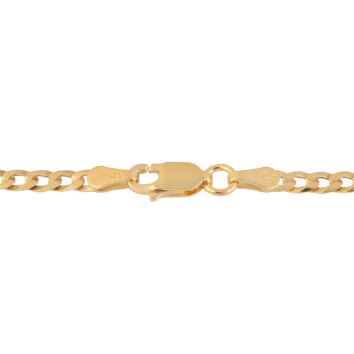 Made in Italy - 14K Gold Overlay Sterling Silver Chain (Size 20), Silver wt 5.45 Gms