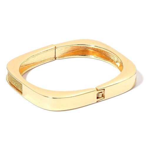 Designer Inspired - Hinged Bangle (Size 7) in Yellow Gold Tone