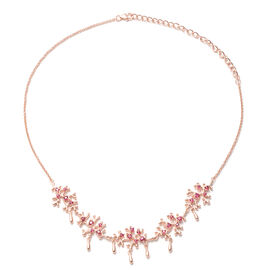 Lucy Q Splash Collection -  African Ruby (FF) Necklace (Size:16 with 4 inch Extender) in Rose Gold O