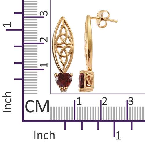 Mozambique Garnet (Hrt) Earrings in 14K Gold Overlay Sterling Silver 1.750 Ct.