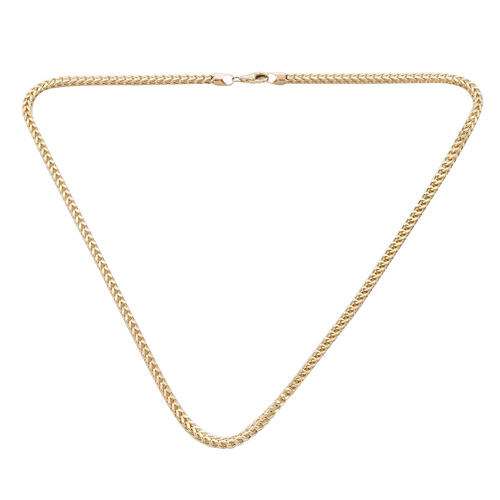 Royal Bali Collection - 9K Yellow Gold Franco Necklace (Size 22), Gold wt 15.60 Gms