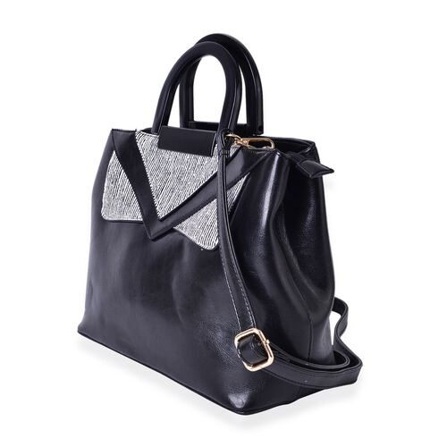 Limited Stock Manhattan Collection City Tote with Adjustable and Removable Shoulder Strap (Size 31X24X13 Cm)