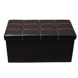 Multi Functional Foldable Storage Ottoman (Size 76x38x38 Cm) - Black