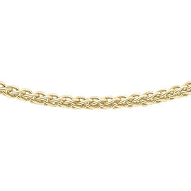 9K Yellow Gold Spiga Chain (Size 18), Gold wt 2.40 Gms