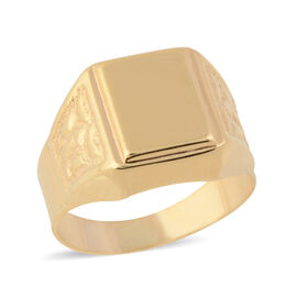 9K Yellow Gold Signet Ring, Gold wt 2.43 Gms