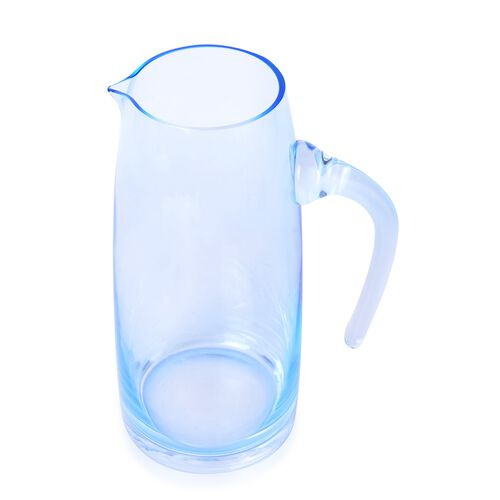 Pitcher in Light Blue Coloured Glass, 1.5 Liter Capacity