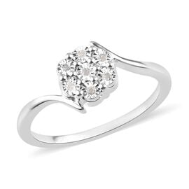 DOD- Diamond Floral Ring in Sterling Silver