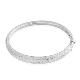 Diamond (Rnd) Bangle (Size 7.5) in Silver Plated