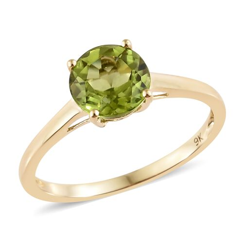 Hebei Peridot (1.40 Ct) 9K Y Gold Ring  1.400  Ct.