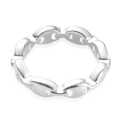 Sterling Silver Mariner Link Band Ring, Silver wt 3.10 Gms
