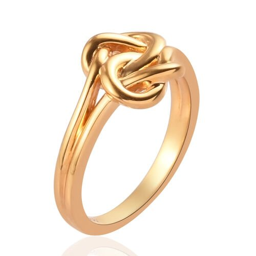 14K Gold Overlay Sterling Silver Knot Ring
